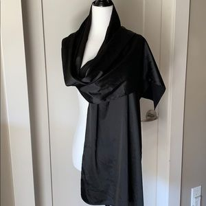 Black satin shawl / scarf